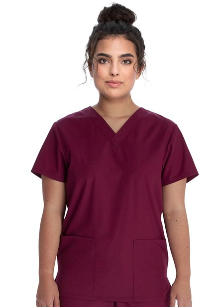 Komplet bluza/spodnie medyczny unisex burgundowy