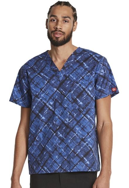 Bluza medyczna męska Painterly Plaid