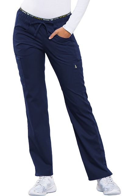 Spodnie medyczne damskie Luxe Sport granatowe