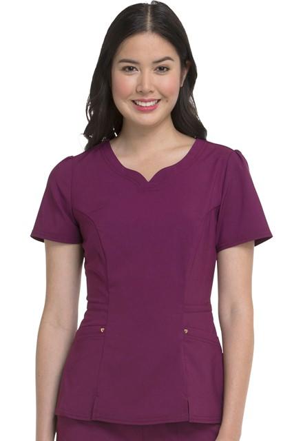 Bluza medyczna damska HeartSoul czerwone wino