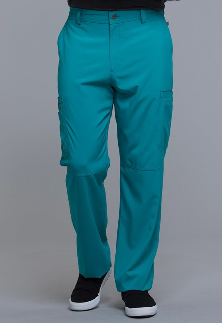 Spodnie medyczne męskie antybakteryjne teal blue