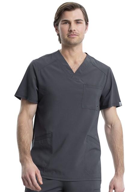 Bluza medyczna męska antybakteryjna grafitowa