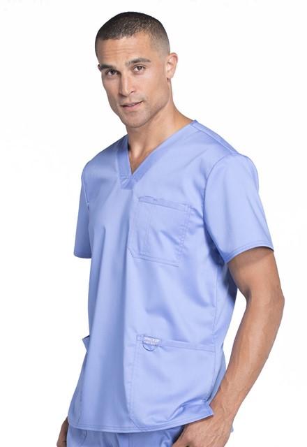 Bluza medyczna męska Revolution błękitna