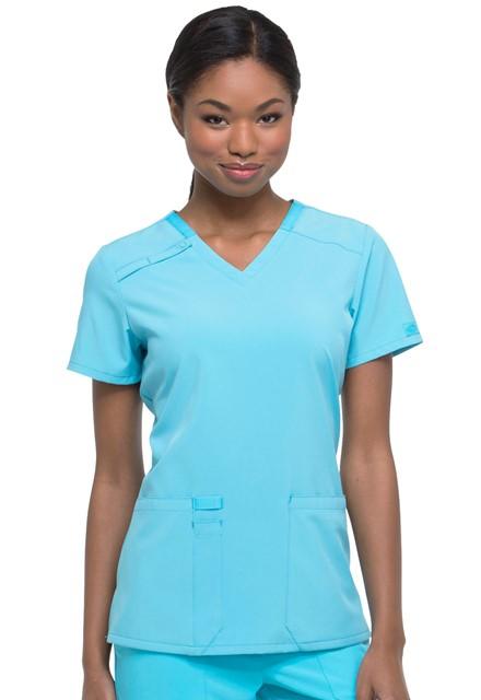 Bluza medyczna damska Essentials turkusowa