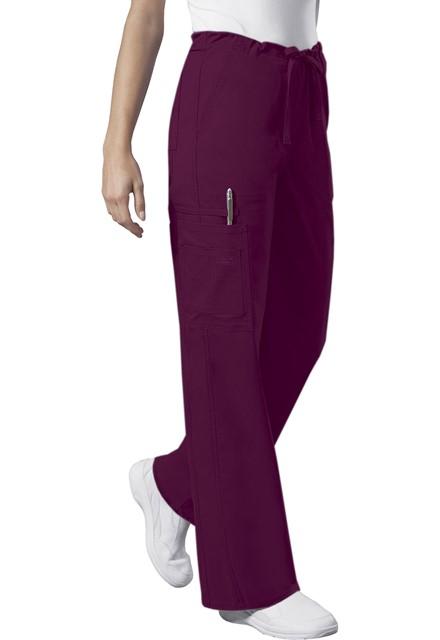 Spodnie medyczne unisex czerwone wino