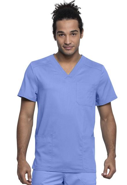Bluza medyczna męska Revolution Tech błękitna