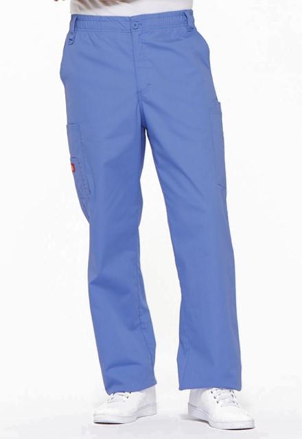 Spodnie medyczne męskie EDS błękitne