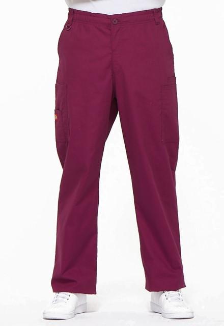 Spodnie medyczne męskie EDS czerwone wino