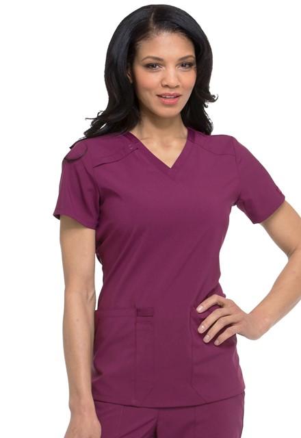 Bluza medyczna damska Essentials wino