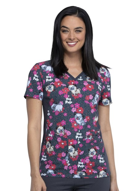 Bluza medyczna damska o wzorze IHPG