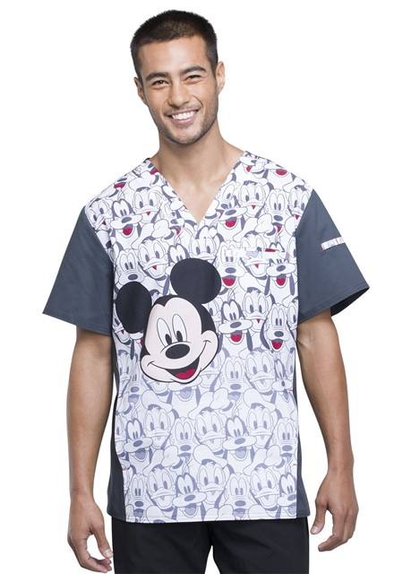 Bluza medyczna męska Mickey and Friends