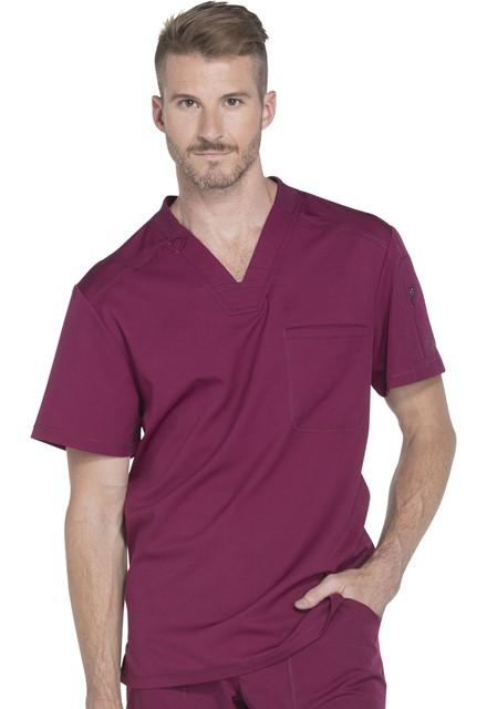 Bluza medyczna męska Dynamix czerwone wino