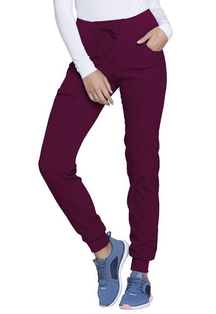 Spodnie medyczne damskie HeartSoul czerwone wino