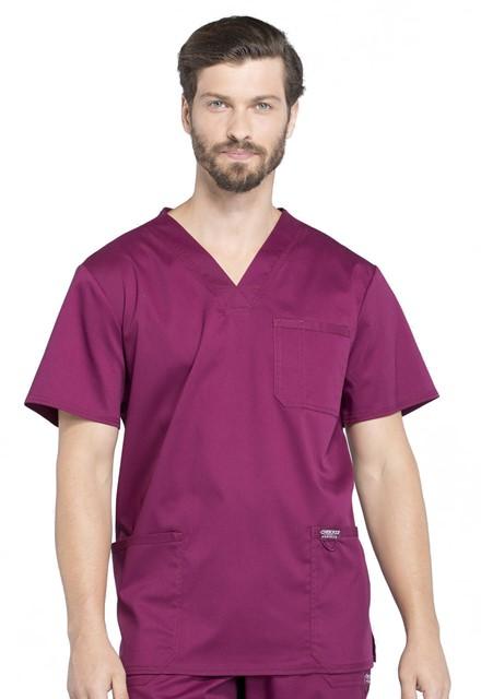 Bluza medyczna męska Revolution czerwone wino
