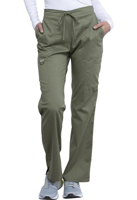 Spodnie medyczne damskie Revolution oliwkowe