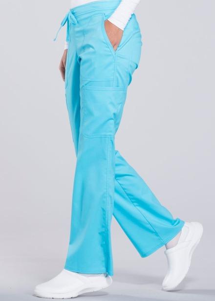 Spodnie medyczne damskie Revolution turkusowe