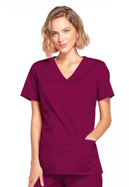 Bluza medyczna damska Core Stretch czerwone wino