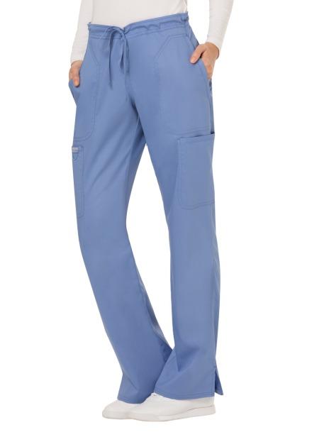 Spodnie medyczne damskie Revolution błękitne