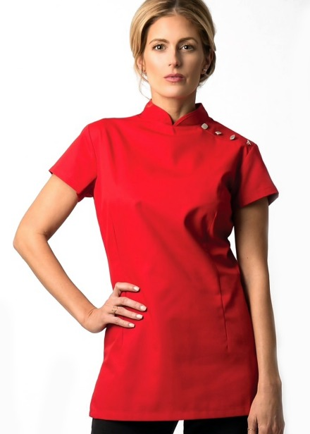 Tunika kosmetyczna damska czerwona