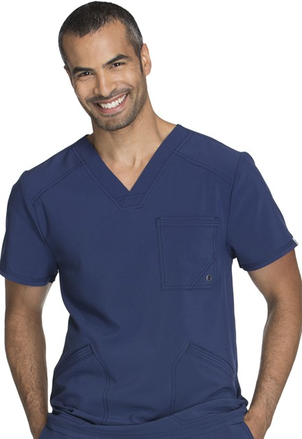 Bluza medyczna męska antybakteryjna granatowa