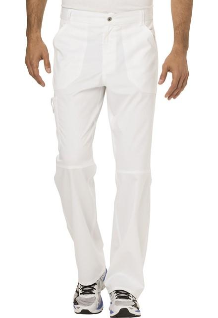 Spodnie medyczne męskie Revolution białe