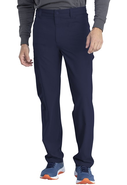 Spodnie medyczne męskie Retro granatowe