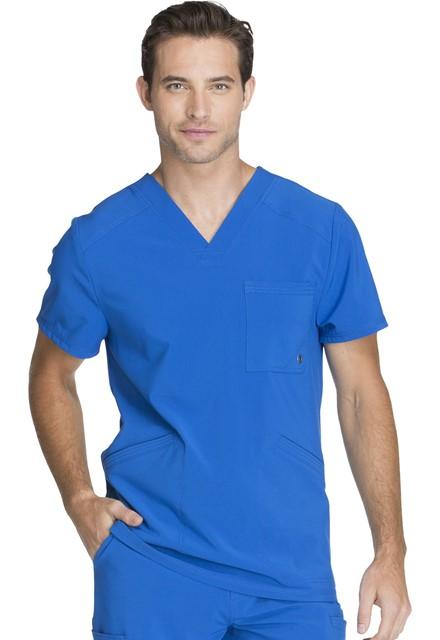 Bluza medyczna męska antybakteryjna szafirowa