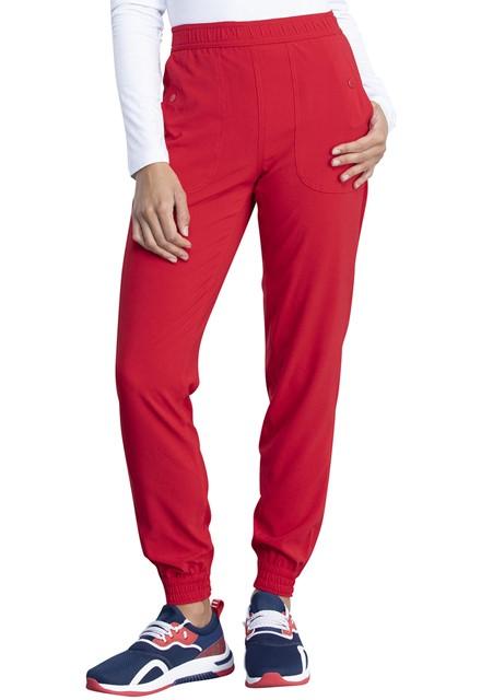 Spodnie medyczne damskie Retro czerwone