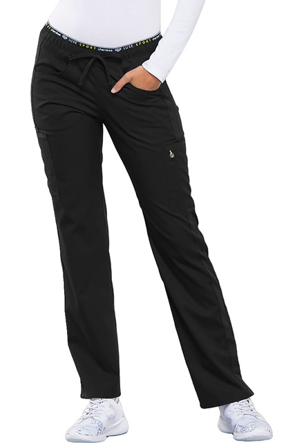 Spodnie medyczne damskie Luxe Sport czarne