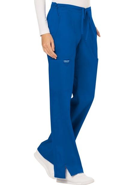 Spodnie medyczne damskie Revolution szafirowe