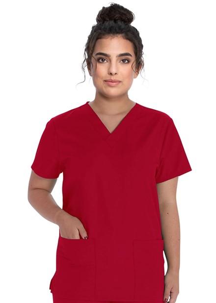 Komplet bluza/spodnie medyczny unisex czerwony