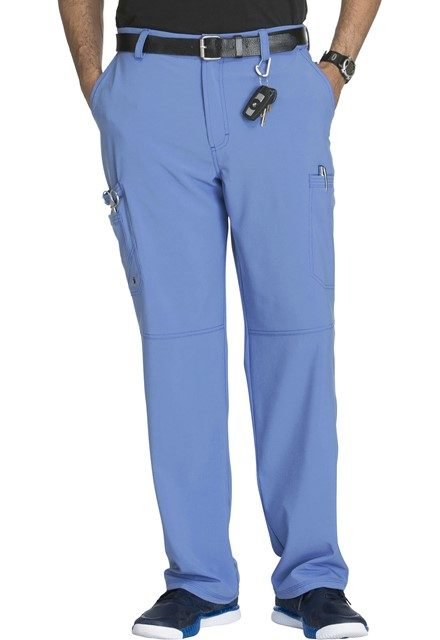 Spodnie medyczne męskie antybakteryjne błękitne