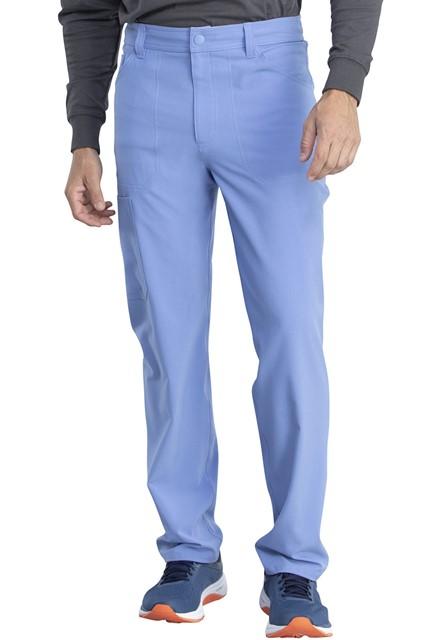 Spodnie medyczne męskie Retro błękitne