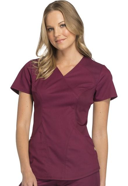 Bluza medyczna damska Luxe Sport czerwone wino