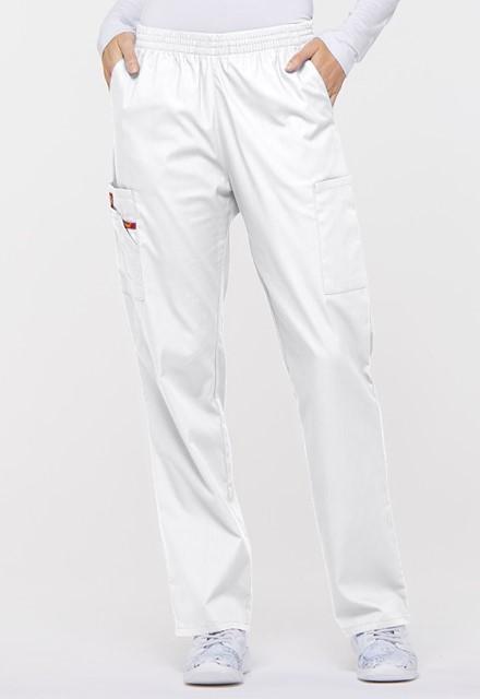 Spodnie medyczne damskie EDS białe