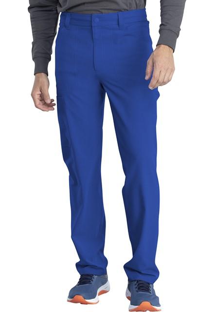 Spodnie medyczne męskie Retro szafirowe
