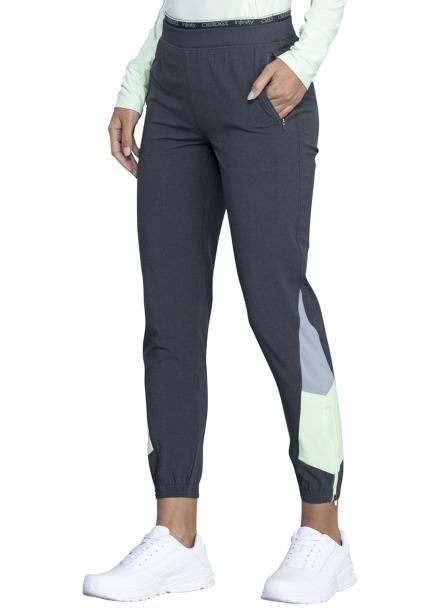 Spodnie medyczne damskie jogger Infinity grafitowe