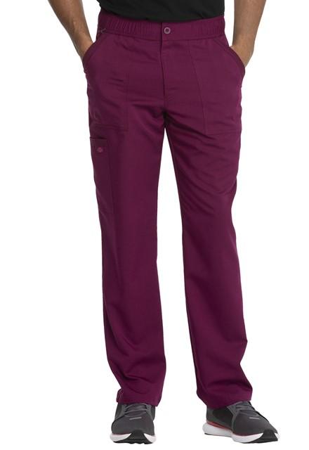 Spodnie medyczne męskie Balance czerwone wino