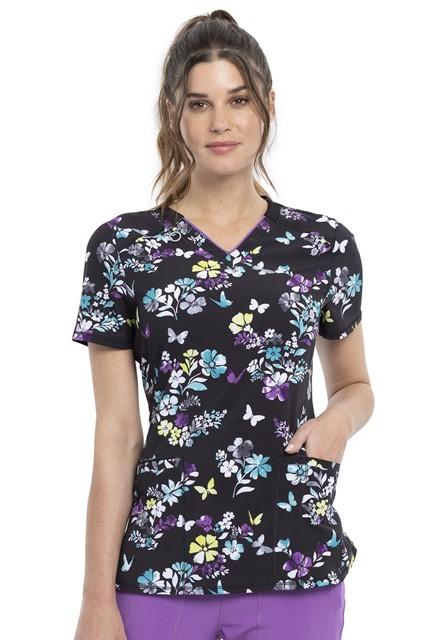 Bluza medyczna damska Butterfly Bouquets