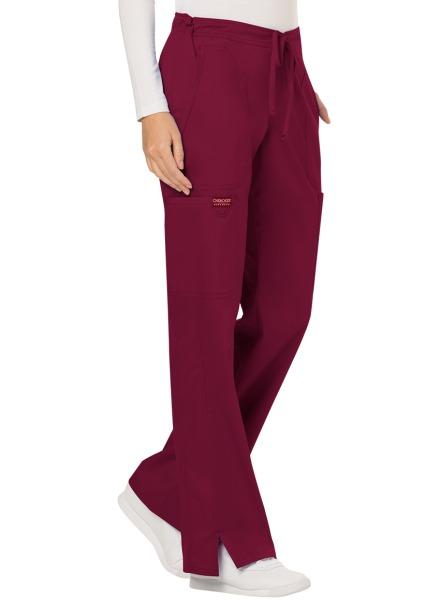 Spodnie medyczne damskie Revolution czerwone wino