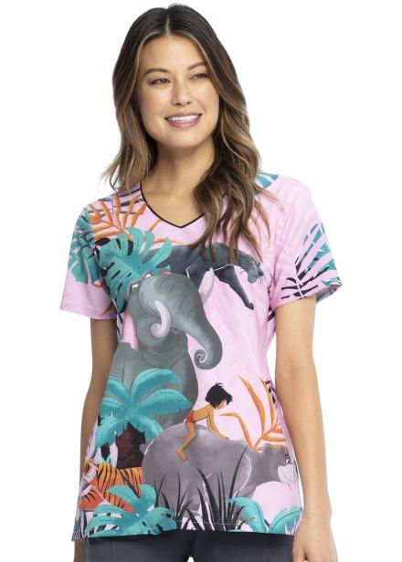 Bluza medyczna o wzorze Mowgli And Friends