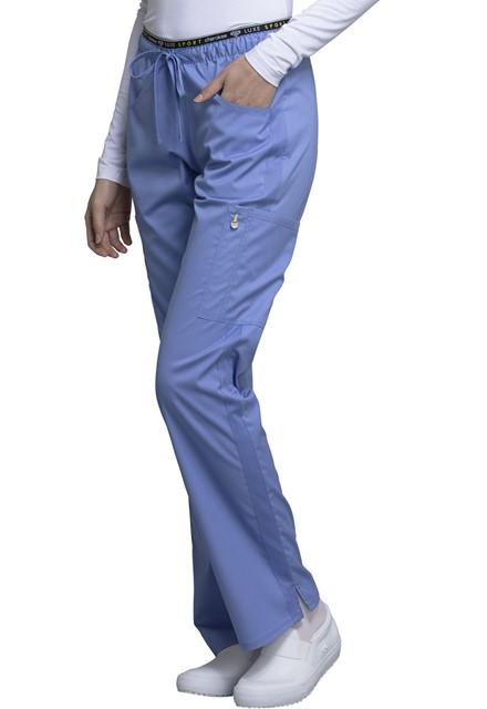 Spodnie medyczne damskie Luxe Sport błękitne