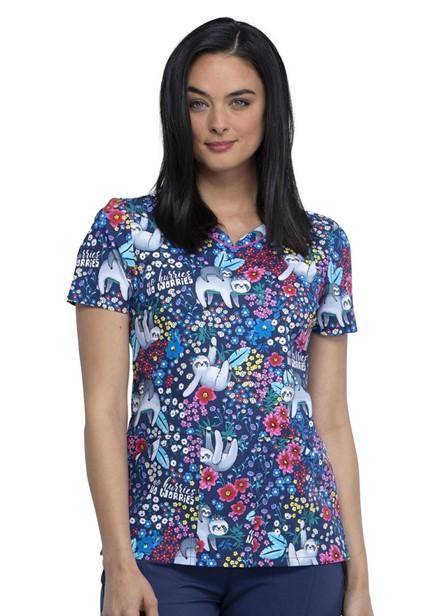 Bluza medyczna damska o wzoze NHNW