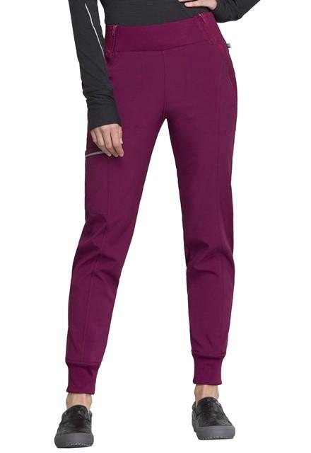 Spodnie medyczne damskie Infinity wino