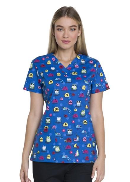 Bluza medyczna damska o wzorze COBU