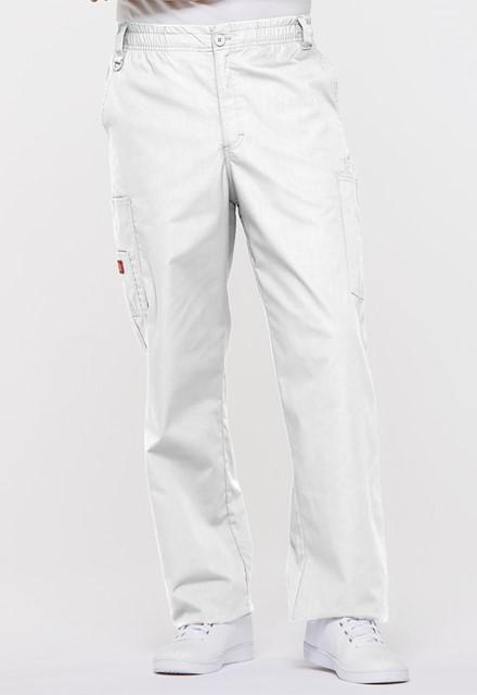 Spodnie medyczne męskie EDS białe