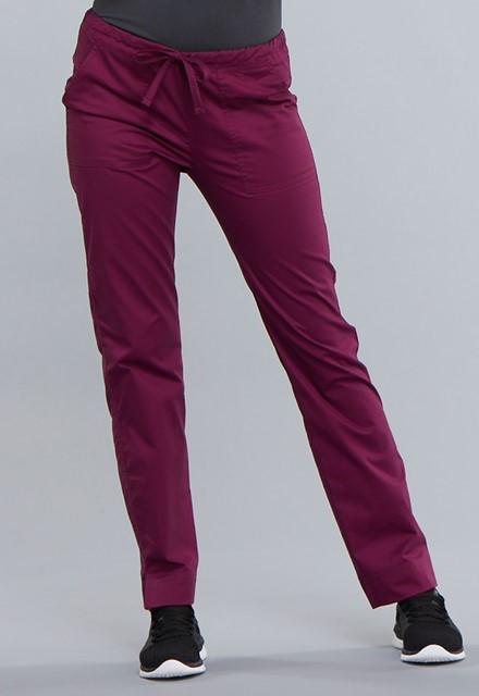 Spodnie medyczne damskie Core Stretch bordowe