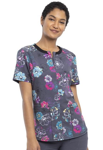 Bluza medyczna damska Poppin Floral