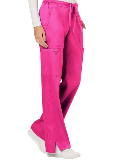 Spodnie medyczne damskie Revolution różowe