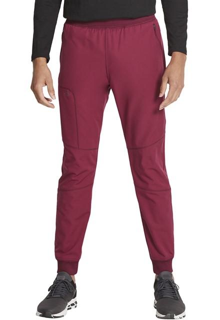 Spodnie medyczne męskie Dynamix wino jogger